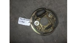 Anchor plate with brake shoes rear Microcar Virgo