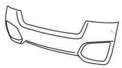 Achterbumper Ligier JS 50 imitatie