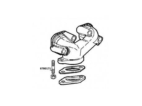 Tapeinde exhaust manifold lombardini