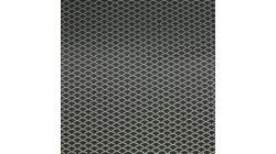 Universeel stuk zilverkleurig bumpergaas 90 x 30 cm