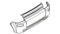 Voorbumper Microcar MC 1 & 2 (tot 2006) Polyester imitatie