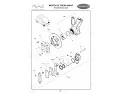 Front brake hub