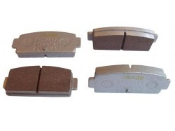 Brake pad set, Microcar MGO, M8 and Ligier IXO back