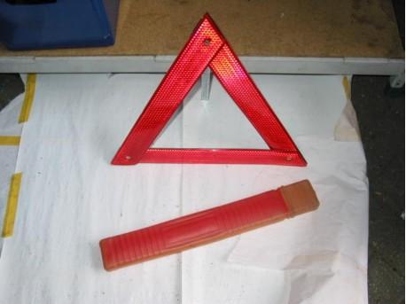 Warning triangle fluoresirend