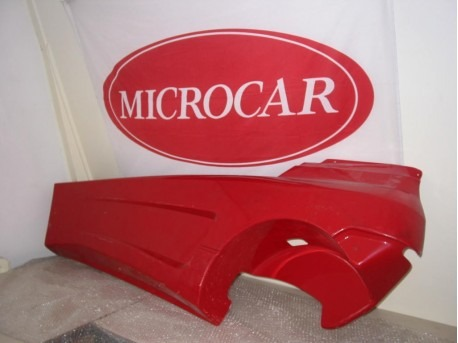 Side screen left red Microcar Newstreet