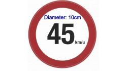 45 KM Sticker brommobiel (10cm)