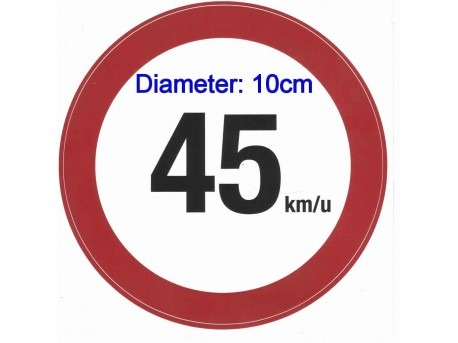 45 KM sticker 10 cm